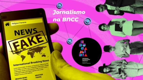 Imagem ilustrativa da matéria Live EducaMídia vai falar de jornalismo na BNCC