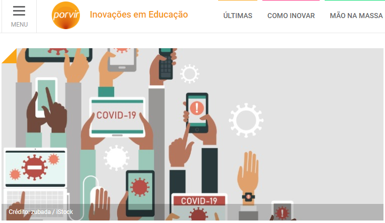 Imagem ilustrativa da matéria Porvir aborda 'infodemia' em parceria com EducaMídia