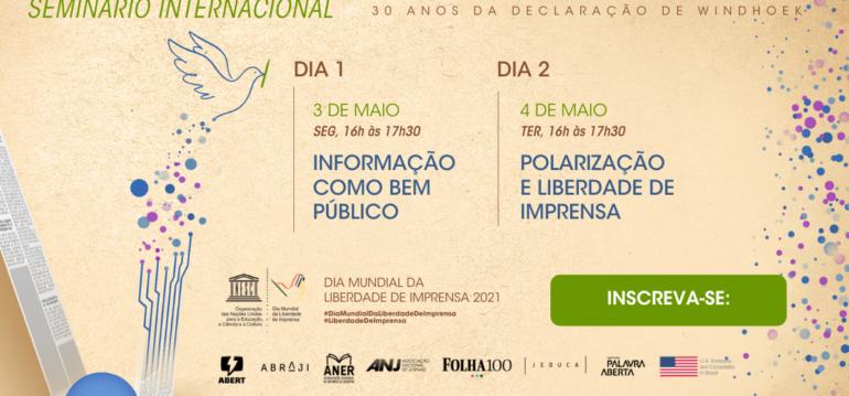 Imagem ilustrativa da matéria Seminário internacional comemora Dia Mundial da Liberdade de Imprensa